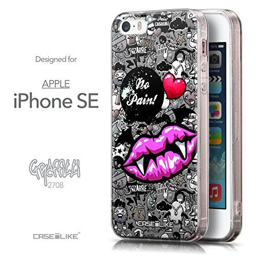 CASEiLIKE Roses et Plumes Beige Vintage 2251 Housse Étui UltraSlim Bumper et Back for Apple iPhone SE +Protecteur d'écran+Stylets cristal (couleur aléatoire) 2708