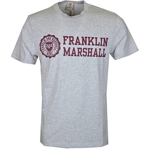 Franklin & Marshall - Camiseta - para hombre Gris gris claro Small