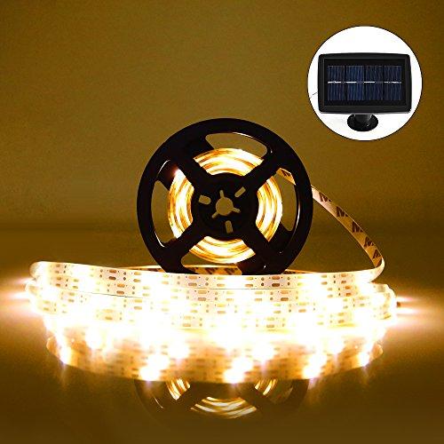 Tira LED Lámparas Solares RGB 5M 100 LEDs Blanco