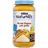 NESTLÉ Purés tarrito de puré de verduras y carne, variedad Arroz blanco con Pollo, para bebés a partir de 6 meses - Paquete de 6 tarritos de 250 g
