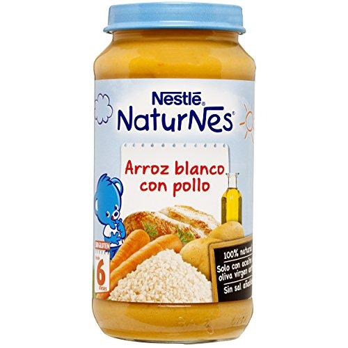 Nestlé - Naturnes Arroz Blanco Con Pollo A Partir De 6 Meses 250 gr - Pack de 6 (Total 1500 grams)