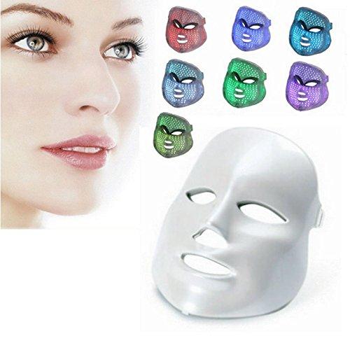 Koi Beauty LED Masque, 7 couleurs de lumière LED pour le visage Masque de traitement Rides et lignes, rajeunissement de la peau, grande les pores, l'acné, Cicatrices, Réparent des plaies