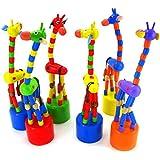 Koly Inteligencia de los cabritos del juguete colorido del baile del soporte de oscilación de madera del juguete de la jirafa