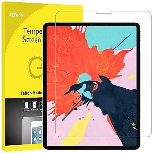 JETech Protector Pantalla Compatible iPad Pro 12,9 Pulgadas (2018 Modelo, 3ª Generación, Borde a Borde Pantalla Liquid Retina), Vidrio Templado