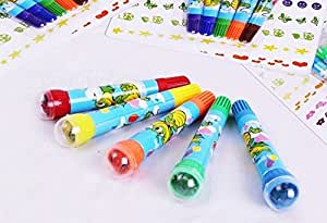 AND-Generic 6 Roller Stamper Marker Pens Set - (Age 3+ years)