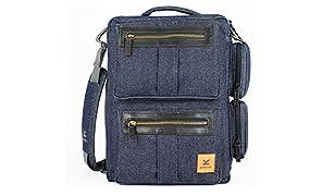 KASTEL Sac Ordinateur Portable Bags Modèle Blue donjon (Denim). Innovant, Design et Astucieux.