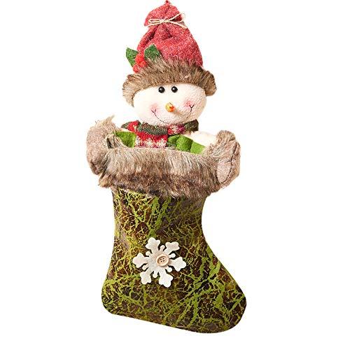 Christmas Sock Old Man Snowman Elk Weihnachtsstrumpf Socke Weihnachtsmann Candy Geschenk Tasche Weihnachtsbaum Weihnachten Weihnachtsfeier Party HäNgen Dekoration Zum BefüLlen(B,Freie Größe)