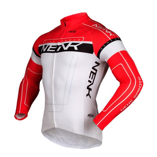 SOBIKE NENK CICLISMO MAILLOT MANGAS LARGAS COOREE 2 COLORES (ROJO  XL)