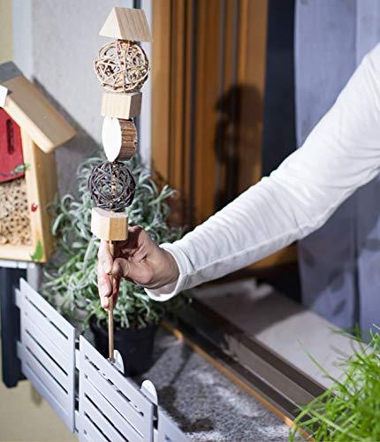 masu Dekor-Adapter Blumenkastenhalterung - für Dekorationen (auf Stangen - bis 6 mm) auf der Querstange