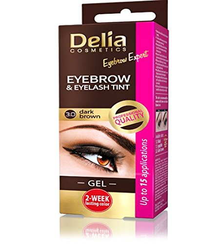 Delia cameleo eyebrow tint cream, marrone scuro 3.0