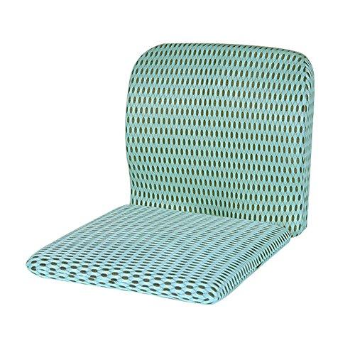 Coussin de chaise haute dos 40 * 40cm bleu de mousse de mémoire siège coussin siège coussin pour voiture -H
