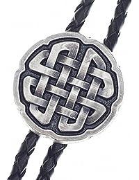 Bolo Tie Kelten-Knoten, echt versilbert!!!, Bolotie, Western Krawatte