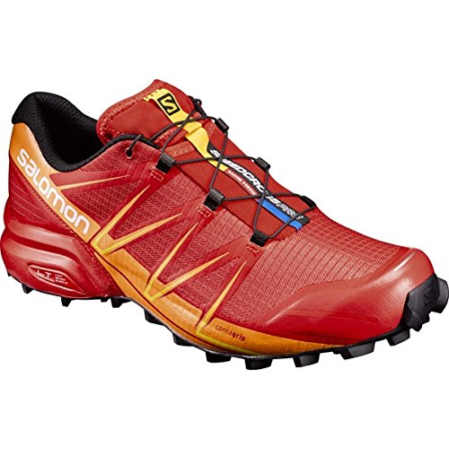Salomon Speedcross Pro, Zapatillas de Trail Running Para Hombre, Rojo (Fiery Red/Bright Marigold/Black), 46 EU