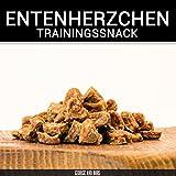 Entenherzchen - 200g - von George & Bobs | Kausnack für Hunde | Trainingssnack aus 100% Entenfleisch