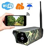 Solar Powered Security Trail Cameras 1080P HD Wifi Camera Outdoor Wireless Security Camera