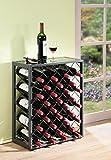 Mango Steam 32 Bottiglie di Vino Rack con Vetro Tavolo, Peltro
