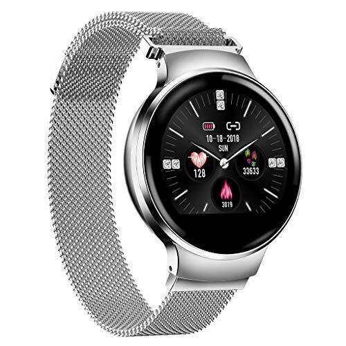 LRWEY Bluetooth Smart Watch, Gesundheits- und Fitness-Tracker Smartwatch Pulsmesser Blutdruck-Aktivitäts-Uhr, Anrufe SMS-Benachrichtigung Remote-Kamera-Musik für iOS Android Phone