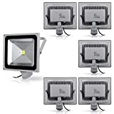 6X 50W blanc froid Projecteur AC 85-265V étanche Projecteur LED induction Sense lampe, AC 85-265V