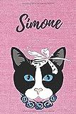 Simone Katzen Notizbuch / Malbuch / Tagebuch / Journal / DIN A5 / Geschenk:...