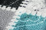 Teppich Modern, Flachgewebe, Gel-Läufer, Küchenteppich,Grau Tukis (TraumTeppich) Größe 80 x 250 cm - 5