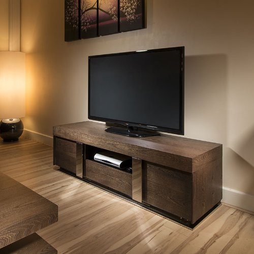 TV Stand / Cabinet / Unit Large 1.6mtr Elm Wood/Stainless Modern 912F