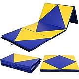 COSTWAY Weichbodenmatte Turnmatte Gymnastikmatte Yogamatte Fitnessmatte Klappmatte 4 x Klappbar 300 x 120 x 5 c