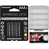 Panasonic Eneloop Pro (4) AAA 950mAh Pre-Charged NiMH Rechargeable Batteries With Battery Case Kit