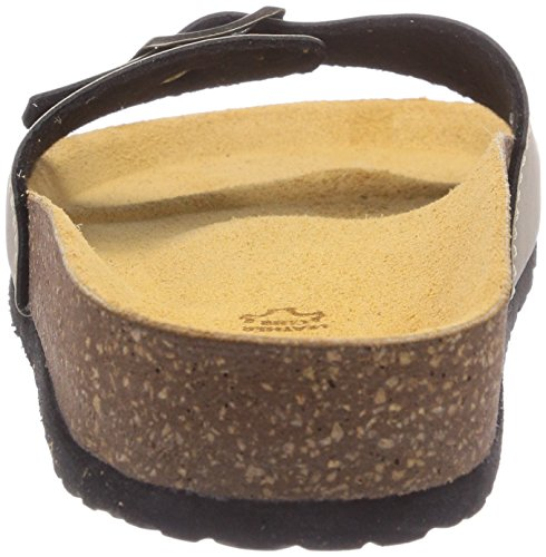 Jana 27110 Damen Offene Sandalen mit Keilabsatz Grau (SAND)