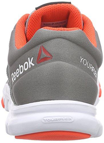 Reebok Damen Yourflex Trainette Laufschuhe Grau (Tin Grey/Shark/Atomic Red/White)
