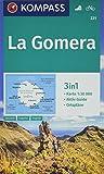 KOMPASS Wanderkarte La Gomera: 3in1 Wanderkarte 1:30000 mit Aktiv Guide und Ortsplänen. Fahrradfahren. (KOMPASS-Wanderkarten, Band 231) -