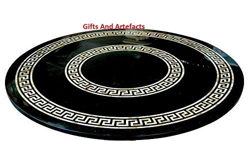 Große und teure Konferenz Tisch Top 182,9cm schwarz rund Marmor Einlage Einzigartige Art