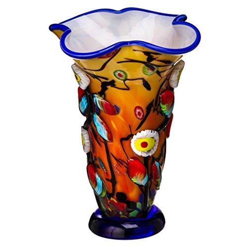 Vaso in vetro James Art Glass vaso 4,4kg vaso in stile Murano 35cm vetro realizzato a mano da tavolo