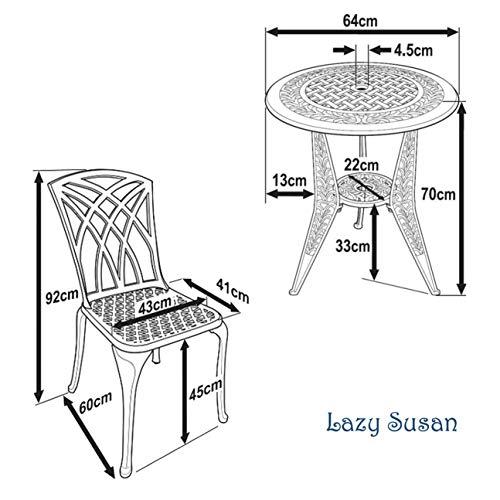 Lazy Susan – IVY Bistrotisch mit 2 Stühlen - 7