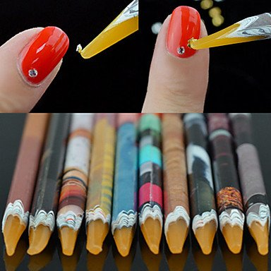 WZW 1PCS Nagel-Kunst-Aufkleber Französisch Tipps Führer Make-up kosmetische Nagelkunst Design (Schmuck Führer)