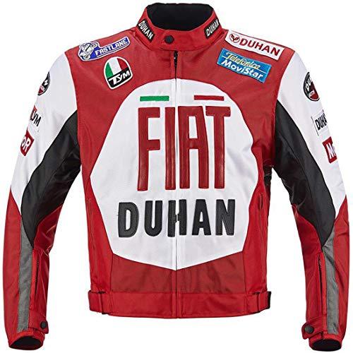 LLC-CLAYMORE Textil Motorradreitjacken, Moto-Jacken für Männer und Frauen, Windschutz-Schutzgetriebe-Zahnräder,XL (Vintage Motorrad-zahnrad)
