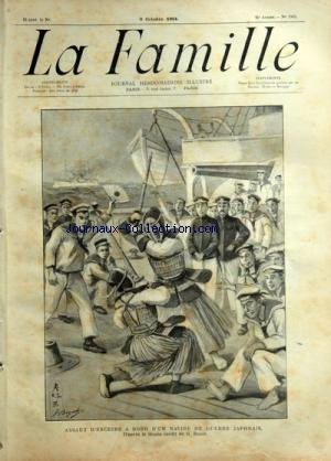 FAMILLE (LA) [No 1305] du 09/10/1904 - ASSAUT D'ESCRIME A BORD D'UN NAVIRE DE GUERRE JAPONAIS / DESSIN DE G. BIGOT