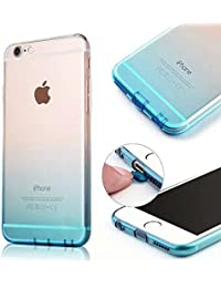 MOMDAD Etui Transparent pour Apple iPhone 6/6S (4.7 pouces) TPU Coquette Gel Coque Ultra Mince Case Cover Telephone Portable Soft Housse iPhone 6S Cas Flex Silicone Protection Shell Coquille Couvrir Coverture Pare-Chocs Anti-Choc Bumper Hull