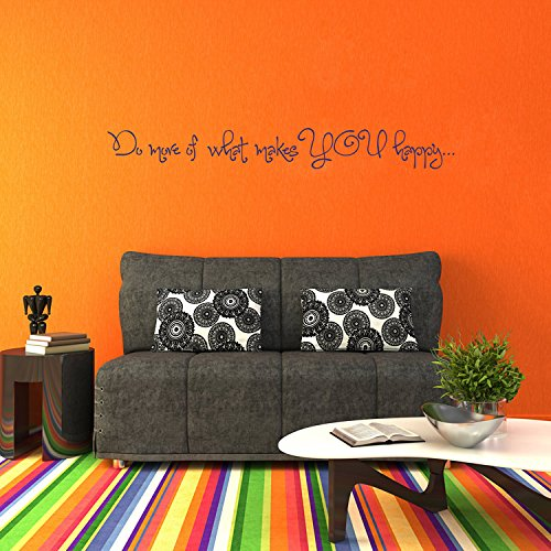 wandaufkleber 3d schlafzimmer Do More of What Makes You Happy - Quote - Saying - Wall Decals Stickers Phrases