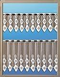 Beyond Drape Bistrogardinen Set mit Schlaufen für Das Fenster Scheibengardine Weiss 2304