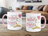 Geburtstags-Tasse die besten Einhörner werden im September geboren MoonWorks® Geschenk-Tasse rosa unisize - 3