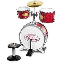 Bontempi Metallic Silver 4 Piece Drum Set