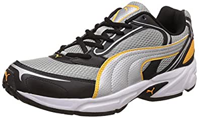 Puma Men's Aron Ind Limestone, Silver Black Running Shoes - 10 UK/India (44.5 EU)