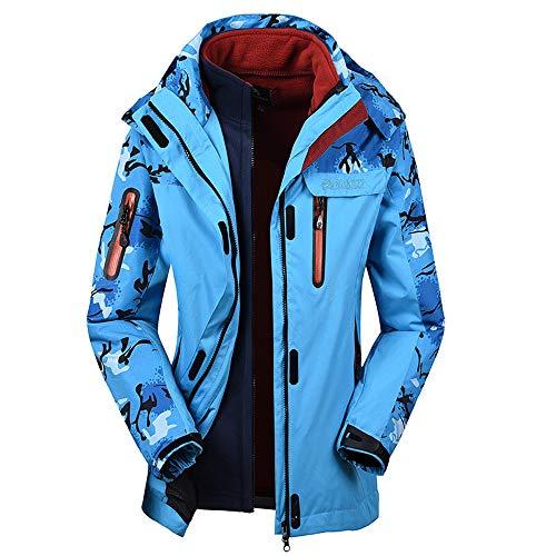 Odjoy-fan-uomo coppia femmina abito a due pezzi cappuccio a prova di vento addensare tenere caldo all'aperto giacche tasca volante giacca outwear cappotto jacket motociclista giubbotto trench