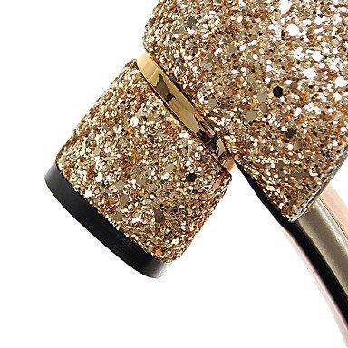 LvYuan Da donna-Sandali-Matrimonio Formale Serata e festa-Club Shoes-Quadrato-Materiali personalizzati-Nero Rosa Bianco Argento Dorato White