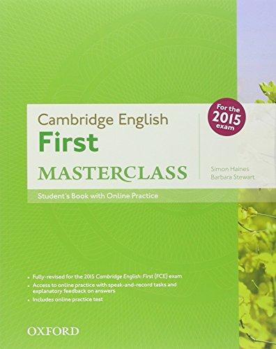 First masterclass. Student's book-Workbook-2 test online. With key. Per le Scuole superiori. Con CD-ROM. Con espansione online