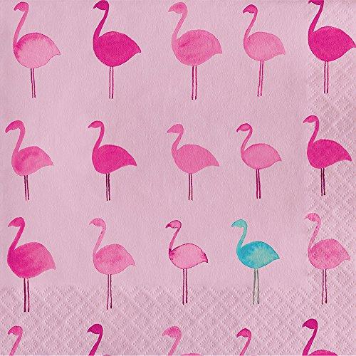 Elise 325066Tropical Muster 3-lagig Luncheon Papier Servietten, Lets flamingle -