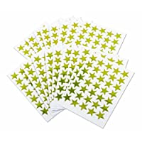 Kids B Crafty Gold Star Stickers Self Adhesive Stars - Reward - Merit - Charts For Children And Teachers x 1000