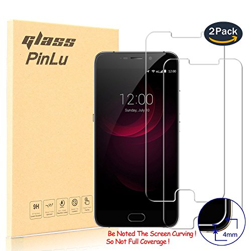[2 Stück] pinlu® Panzerglas Bildschirmschutzfolie für UMIDIGI Plus Transparent Glasfolie Protector 9H Härtegrad Schutzglas,99% Transparenz,Einfaches Anbringen,3D Touch Kompatibel