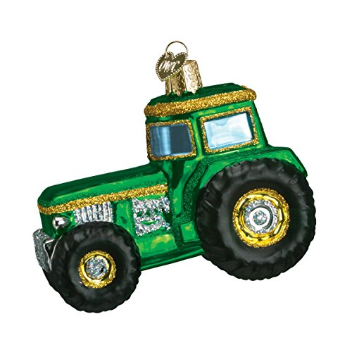 Old World Weihnachten Traktor Glas geblasen Ornament - Kurt Adler Christmas Lights