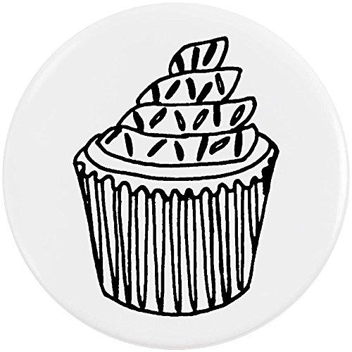Azeeda 58mm 'Cupcake mit Streuseln' Pin Knopf-Abzeichen (BB00004727)